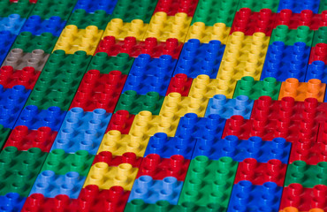 Questionmark from toy bricks