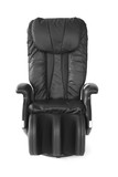 Black leather modern massage chair.