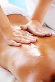 Fototapety Massage Techniques II - woman receiving professional massage.