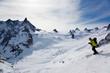 Man's skiing, chamonix, valle blanche