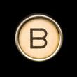 Typewriter letter B