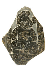 Ancient Bas-Relief Stele Isolated with Clipping Path
