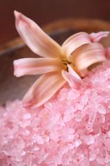 Pink bath salt