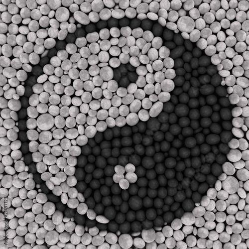 yin yang aus steinen stockfotos und lizenzfreie bilder auf bild 21497123. Black Bedroom Furniture Sets. Home Design Ideas