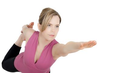 Girl in King Dancer Yoga Position