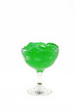 Green Gelatin in Parfait Dish poster