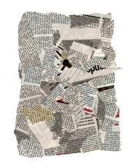 Newspaper pieces