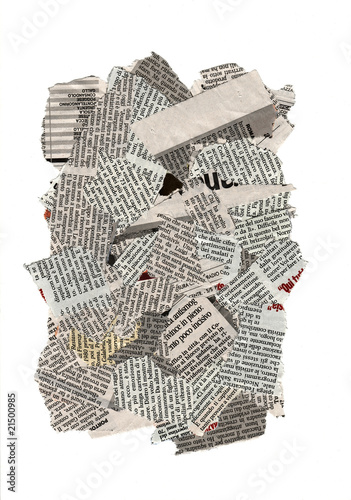 Newspaper torn pieces