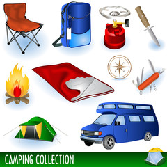 Camp icons collection
