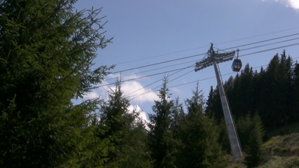 Top of mountain cable car