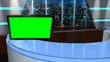 Virtual TV Studio 3D News Set