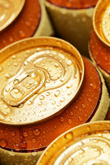 Gold drinking cans