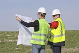 Equipe de géomètres experts poster