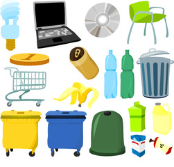 Set of objects and tools C