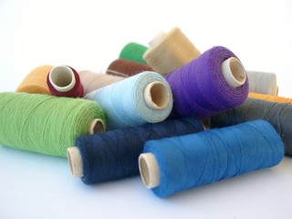 A group of thread rolls