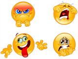 Emotions emoticons set