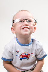 Infant in eyeglasses