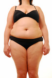 Overweight woman poster