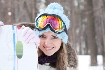 Woman at ski resort