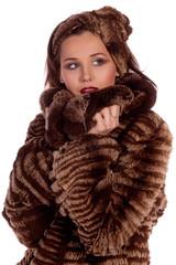 Lady in a fur coat.