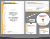 Corporate identity vector template easy editable