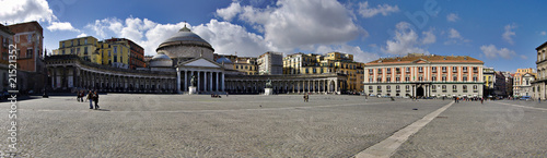 Panoramic view of San Francesco di Paola church; Naples; Italy