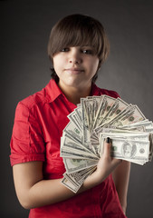 Girl who has a lot of money