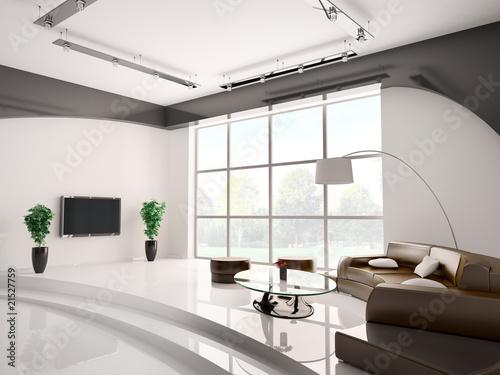 wohnzimmer mit braun sofa 3d stockfotos und lizenzfreie. Black Bedroom Furniture Sets. Home Design Ideas