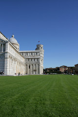 Leaning Tower, duomo and piazza view in Pisa, Tosciany
