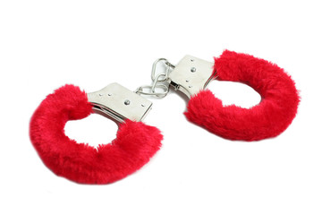 closed red handcuffs