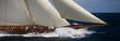 Leinwanddruck Bild - voilier en mer