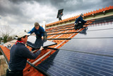 installing black high performing solar modules  02 poster