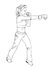 Cardio kickboxing training