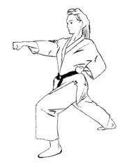 Woman karate selfdefense