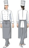The woman the cook in an apron poster