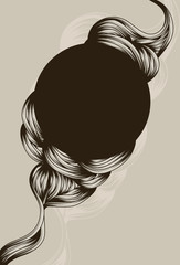 abstract hand drawn swirl background