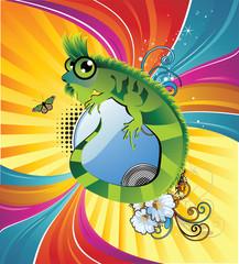 iguana en vector