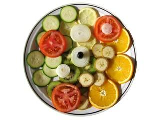 RONDELLES DE FRUITS ET LEGUMES