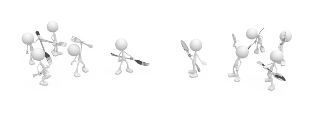 Little People, Confrontation Cutlery