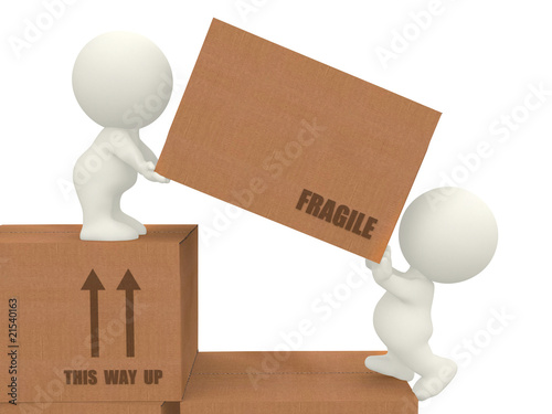 3d people moving boxes by Andres Rodriguez, Royalty free ...