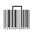 suitcase stylized with bar-code