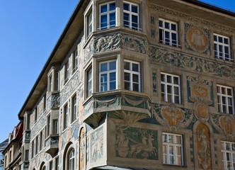 ruffinihaus, fresken, münchen