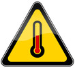 High temperature warning sign
