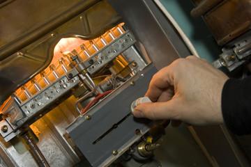Gas boiler. Examination of equipment