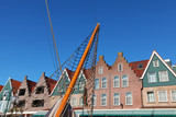 The Dutch small city of Volendam. Clear October day poster