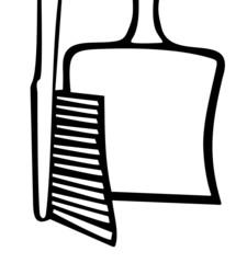 Kehrblech und Handfeger