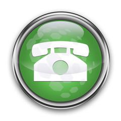 boton de cristal telefono