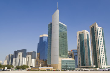 Doha Financial District Skyline, Qatar