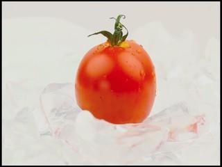 eisgekühlte Tomate