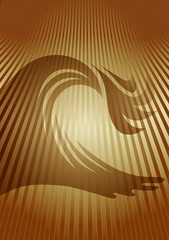 wave background sepia